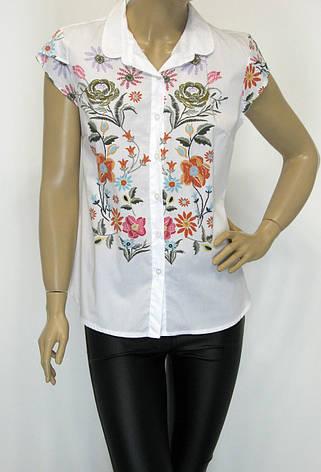 Блуза без рукава цветочный принт, фото 2