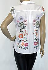 Блуза без рукава цветочный принт, фото 3