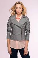 Куртка-косуха из искусственной кожи LOOKER серая #O/V