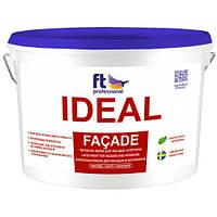 Атмосферостойкая латексная краска для фасада и интерьера FT Pro Ideal Facade 10 л