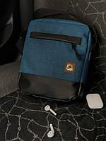 Мужская  городская сумка мессенджер Nike (Найк) синяя  (реплика), фото 1