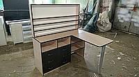 Маникюрный стол, стол для маникюра профессиональный со складной столешницей кремовый