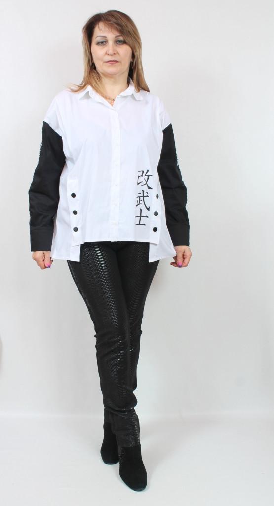 Турецкая женская туника-рубашка, больших размеров 52-62
