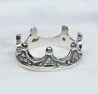 Корона кольцо серебряное 925 пробы