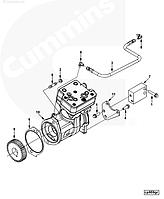 3969125, 3991521, 3969124, 4936216 Воздушный компрессор на двигатель Cummins