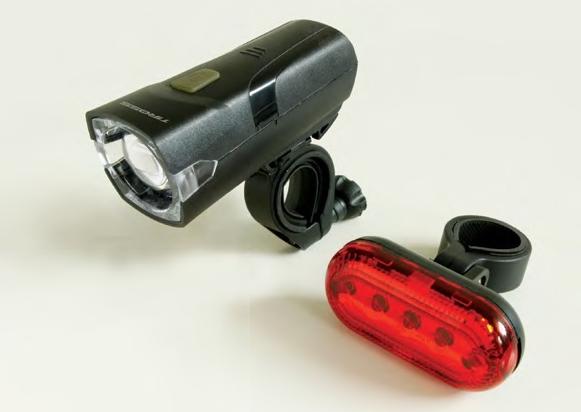 Велофонари комплект Tiross TS-659 black  1W LED CREE + 5 LED AAA