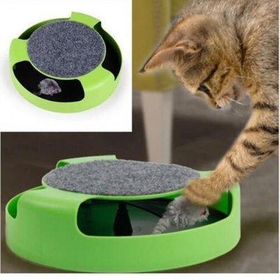 "Игрушка для кошек ""Поймай мышку"" cat mouse chase toy"