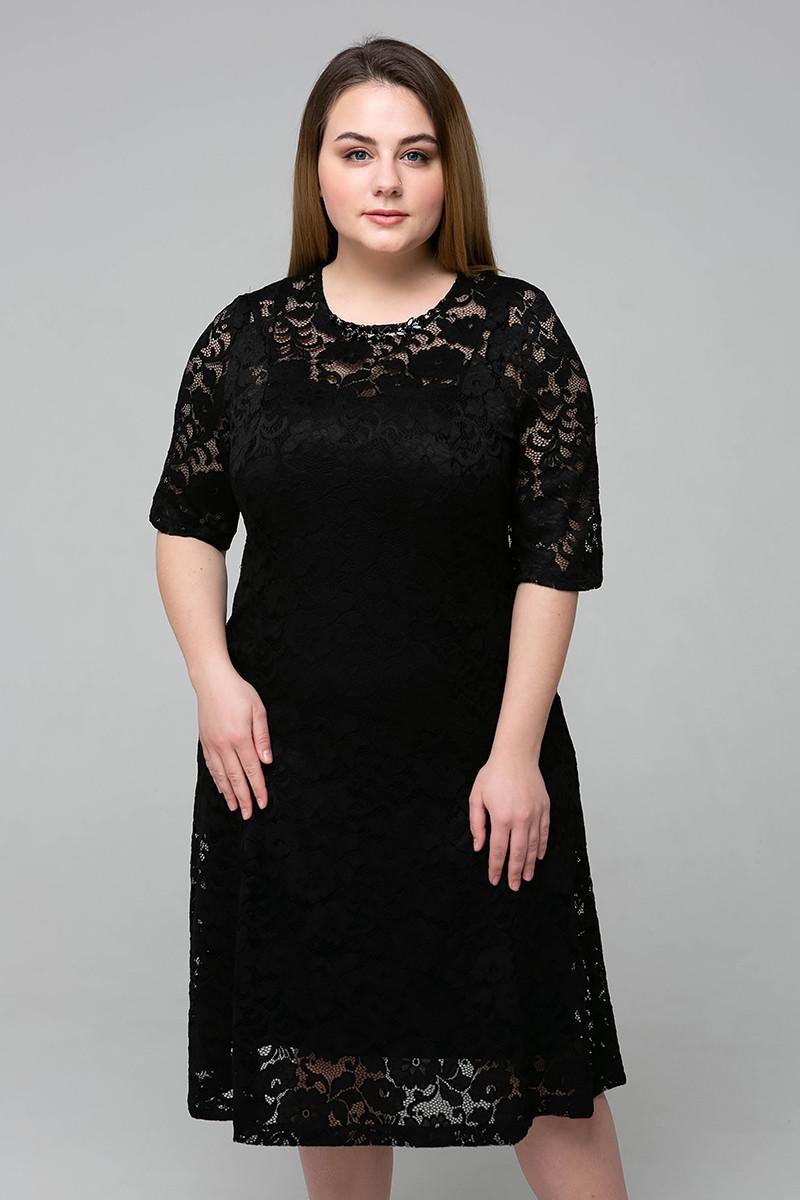 9a2dc28be3e6e23 Гипюровое платье для полных женщин Ивона - V Mode, прямой поставщик женской  одежды в Харькове