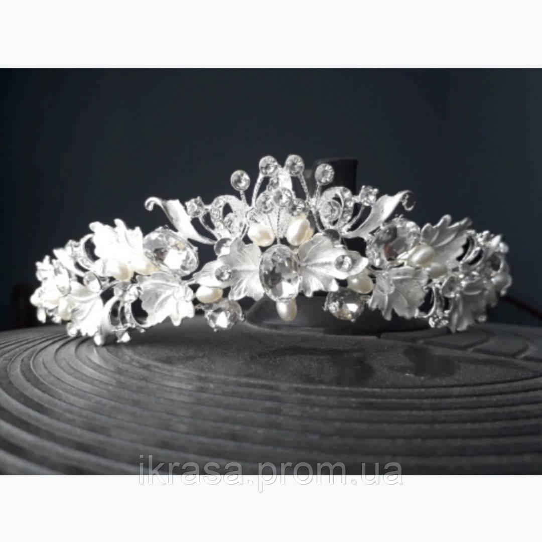 Tiffany - Ніжний віночок діадема срібного кольору (4,5см)
