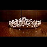 Tiffany - Ніжний віночок діадема срібного кольору (4,5см), фото 6