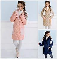 Стеганое пальто для девочек 18374, фото 1