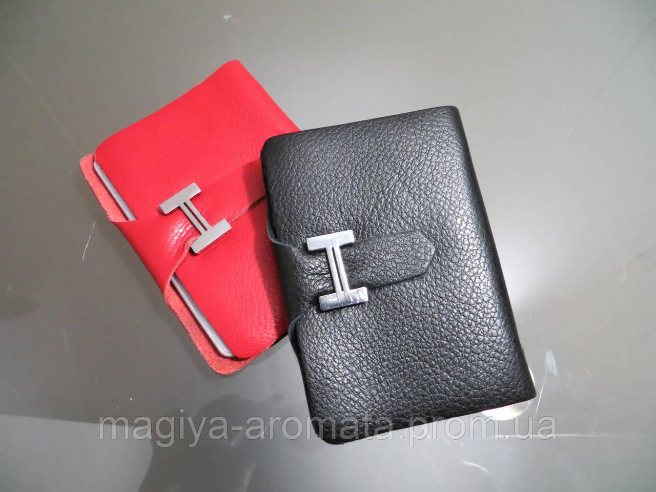 9457f6f88523 Визитница кожаная Hermes Original quality цвет черный красный - Магия  Аромата - Парфюмерия, Брендовые Сумки