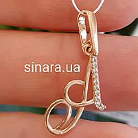 Золотой кулон буква А - Подвеска золотая буква А, фото 4