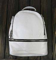 Женский белый рюкзак кожа Farfallo Rosso, фото 1
