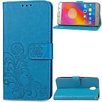 Чехол Clover для Lenovo A2010 / A2580 / A2860 книжка PU кожа голубой