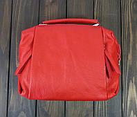 Кожаная красная маленькая сумка Farfallo Rosso, фото 1