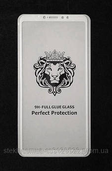 Защитное стекло 5D Xiaomi Mi Max 3 White