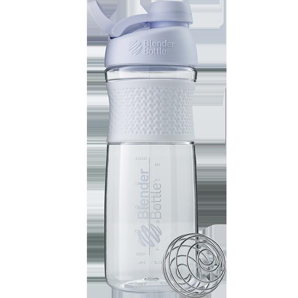 Спортивная бутылка-шейкер BlenderBottle SportMixer Twist 820ml White (ORIGINAL)