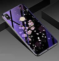 Чехол Glass-case для Xiaomi Redmi Note 5 / Note 5 Pro Global бампер накладка Sakura