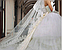 Фата длинная кружевная айвори 14002, фото 3