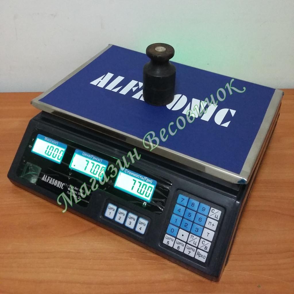 Електронні торгові ваги з акумулятором ACS-A1 40кг (230*340мм)