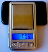 Мини-весы ювелирные 6202-PA (200 г), высокая точность, дискретность 0,01г, учет тары, ЖК-дисплей с подсветкой., фото 3