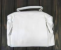 Кожаная белая маленькая сумка Farfallo Rosso, фото 1