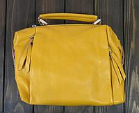 Кожаная желтая маленькая сумка Farfallo Rosso, фото 1