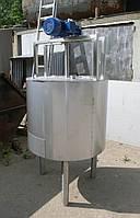 Емкость нержавеющая, объем 260 л, с рубашкой, термоизоляцией, электрическим нагревом и мешалкой рамного типа