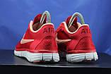 Червоні жіночі кросівки Nike Free Run 3.0 для бігу і залу, фото 3