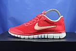 Червоні жіночі кросівки Nike Free Run 3.0 для бігу і залу, фото 4
