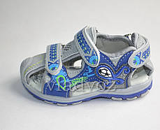 Детские босоножки сандалии для мальчика синие Sport Jong Golf 21р., фото 2