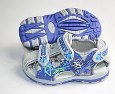 Детские босоножки сандалии для мальчика синие Sport Jong Golf 21р., фото 3