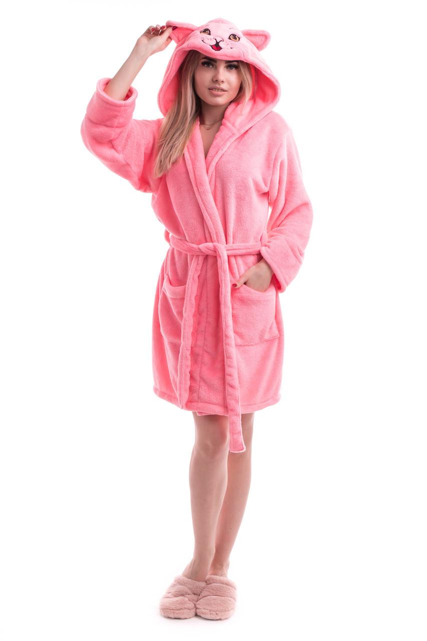 Женский домашний халат из махровой ткани