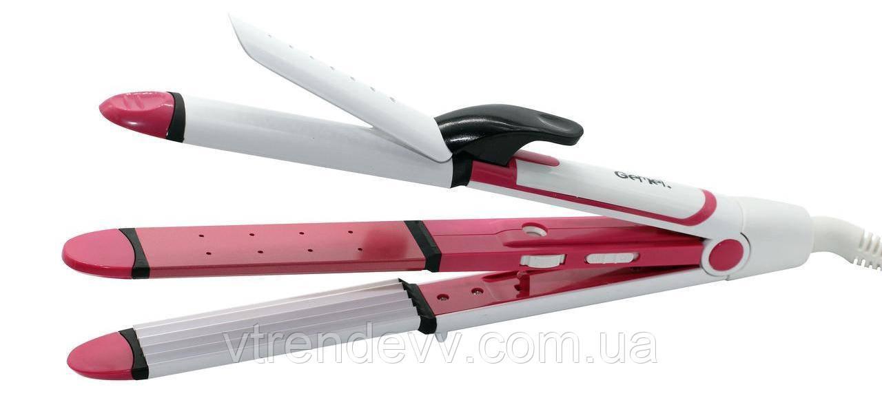 Плойка для волос Gemei GM-2921 3 в 1 розовая