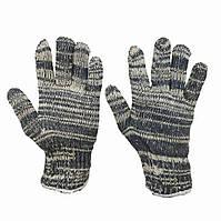 Трикотажные рабочие перчатки без протектора вязаные серые
