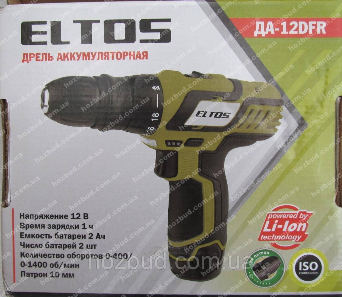 Шуруповерт аккумуляторный Eltos ДА-12DFR