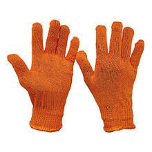 Перчатки рабочие оранжевые Slim трикотажные тонкие без протектора