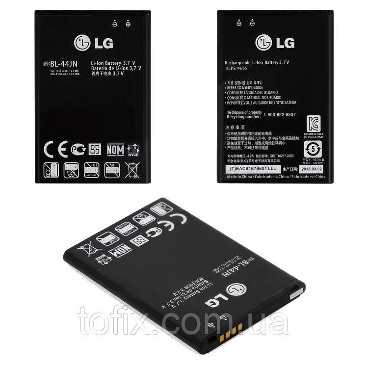 Батарея (акб, аккумулятор) BL-44JN для LG Optimus Pro C660, 1500 mAh, оригинал