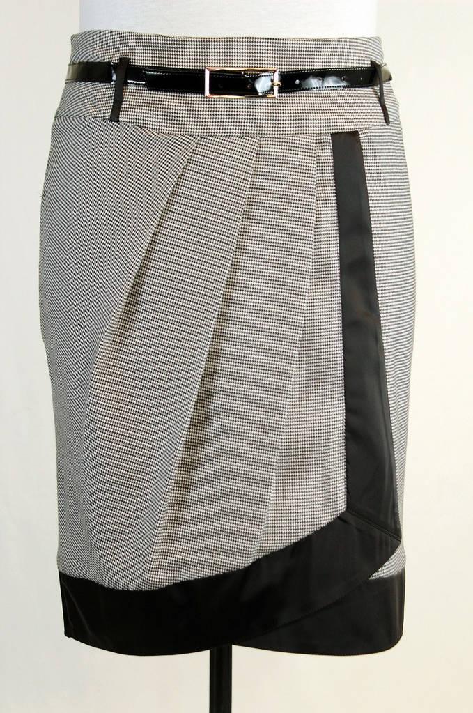 Нарядная юбка на запах 48-54 р ( гусиная лапка )