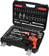 Набор инструментов YATO YT-12685 100 предметов + шуруповерт 3.6 В