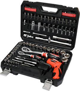Набір інструментів YATO YT-12685 100 предметів + шуруповерт 3.6
