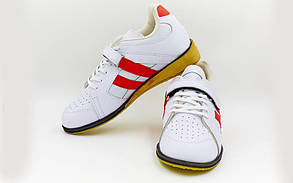 Штангетки обувь для тяжелой атлетики Кожа OB-8363 (р. 45) (верх-кожа, подошва кожа, TPU)