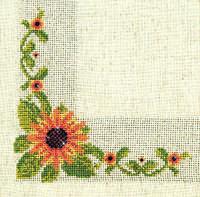 Набор для вышивки стразами «Салфетка подсолнух»