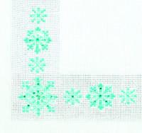 Набор для вышивки стразами «Салфетка снежинка»