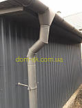 Металлическая водосточная система, желоб D-120 мм, труба D-100мм,  цветная * Угол желоба наружный/внутренний, фото 3