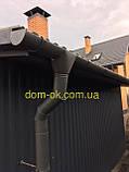 Металлическая водосточная система, желоб D-120 мм, труба D-100мм,  цветная * Угол желоба наружный/внутренний, фото 8