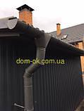 Металлическая водосточная система, желоб D-120 мм, труба D-100мм,  цветная * Заглушка правая/левая, фото 2