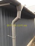 Металлическая водосточная система, желоб D-120 мм, труба D-100мм,  цветная * Заглушка правая/левая, фото 3