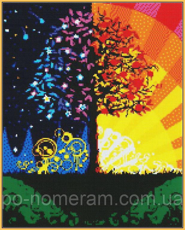 Картина алмазная вышивка Babylon Дерево счастья (ST224) 40 х 50 см (На подрамнике)